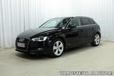 Audi A3 Sportback Business Sport 1,8 TFSI 180 hv quattro S tronic *YLI 8000 EURON TEHDASVARUSTELU!*, vm. 2014, 97 tkm (1 / 30)